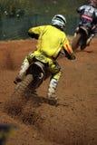 Dirtbike de motocross Photos stock