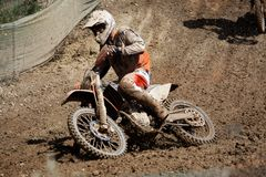 dirtbike do motocross Imagens de Stock Royalty Free