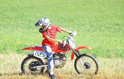 Dirtbike jeździec Zdjęcie Royalty Free
