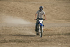 Dirtbike riders desert Royalty Free Stock Image
