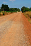Dirth road. Near cassava in Thailand country Royalty Free Stock Image