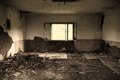 Dirty, abandoned room Royalty Free Stock Images