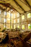 Dirty Abandoned Warehouse Stock Image