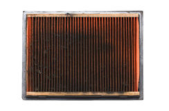 Dirty Air Filter Auto Spare Part. Royalty Free Stock Photos