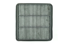 Dirty air filter for car, automotive spare part Stock Photos