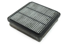 Dirty air filter for car, automotive spare part Stock Images