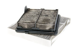 Dirty air filter Royalty Free Stock Photos