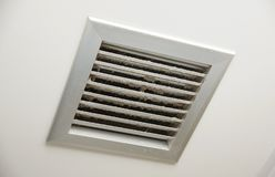 Dirty air ventilator. On the ceiling Stock Photos