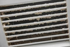 Dirty air ventilator. Full of dust Stock Photos