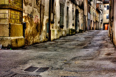 Dirty alley Stock Image
