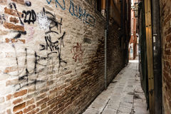 Dirty alley Royalty Free Stock Photos