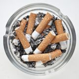 Dirty Ashtray Royalty Free Stock Photo