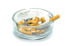A dirty ashtray Royalty Free Stock Photography