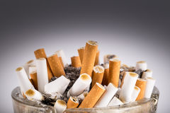 A dirty ashtray Royalty Free Stock Images