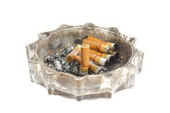Dirty ashtray. Stock Images