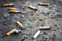 Dirty ashtray Royalty Free Stock Images