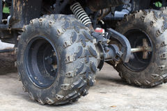 Dirty ATV tire Royalty Free Stock Photography