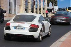 Dirty Audi TT in Monte-Carlo, Monaco Stock Photos