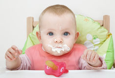 Dirty baby Stock Photos