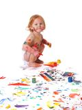 Dirty baby royalty free stock images