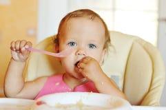 Dirty baby girl Stock Photos