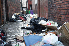 Dirty back alley 1. Dirty back street alley 1 Royalty Free Stock Images