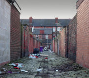 Dirty back alley Royalty Free Stock Photos