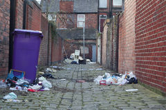 Dirty back alley Royalty Free Stock Photo