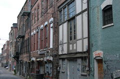 Dirty back alley. A back alley in a southern city Royalty Free Stock Images