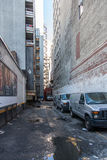 Dirty back alley in Manhattan Stock Image