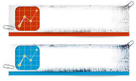 Dirty banners with graph Royalty Free Stock Image