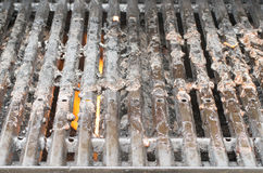 Dirty barbeque grill Stock Photo