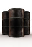 Dirty barrels tree peaces Royalty Free Stock Photo