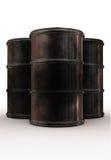Dirty barrels tree peaces Royalty Free Stock Photo