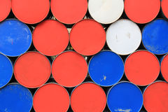 Dirty barrels wall Royalty Free Stock Photography