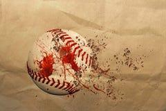 Dirty baseball ball. 3d illustration of a dirty baseball ball Stock Photography