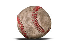 Dirty baseball with shadow Royalty Free Stock Photos