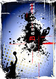 Dirty basketball poster Royalty Free Stock Images