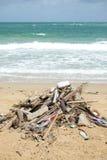 Dirty beach Stock Image