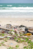 Dirty beach Royalty Free Stock Photos