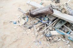 Dirty beach Stock Photos