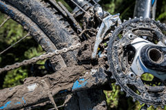 Dirty bicycle Stock Images