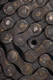 Dirty bicycle chain background Stock Photos