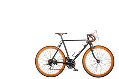 Dirty bicycle cut for white isolated. Dirty bicycle cut for white isolated with copy space Royalty Free Stock Photo