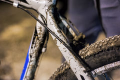 Dirty bicycle Stock Image