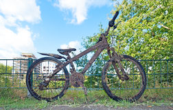 Dirty bike Royalty Free Stock Photo
