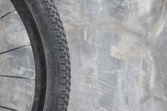 Dirty bike wheel. Stock Photography
