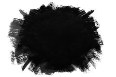 Dirty black ink spot. Dirty black ink blank grunge hipster spot on white background Royalty Free Stock Photo