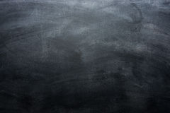 Dirty blackboard with chalk traces, black background Royalty Free Stock Photography