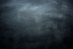 Dirty blackboard with chalk traces, black background Stock Images